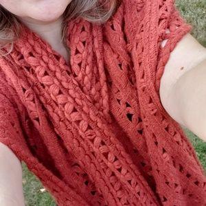 Rust blanket scarf or shawl